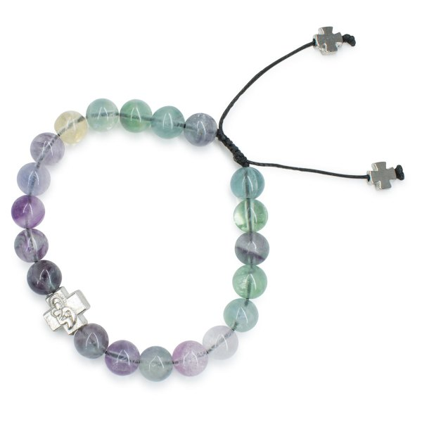 Marvellous Fluorite Stone Prayer Bracelet