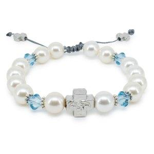"Swarovski Pearl and Crystal Orthodox Bracelet ""Eve""-0"