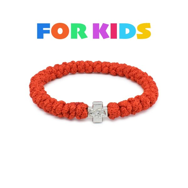 Red Prayer Rope Bracelet for Kids