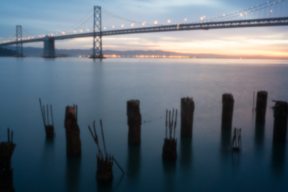 Bay Bridge, San Francisco – Skink Pinhole on Fuji X-Pro 1 (exposure adjusted +1 stop but otherwise no post-processing)