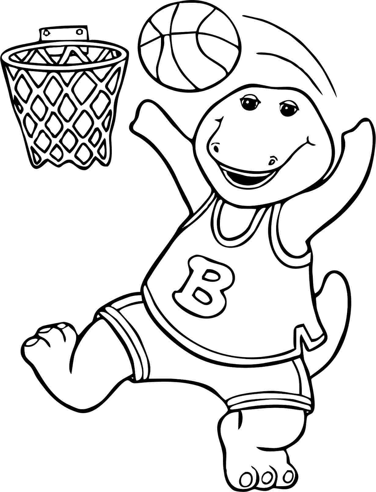 Barney Coloring Pages For Preschoolers