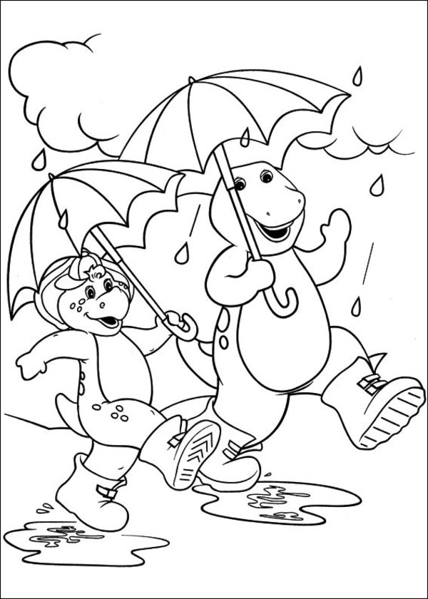Barney Coloring Pages For Preschoolers 360coloringpages