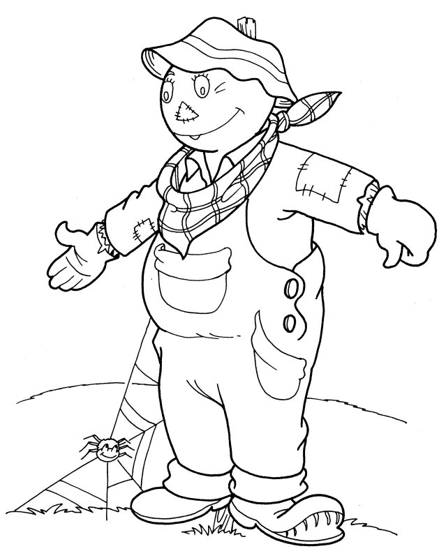scarecrow coloring pages  3coloringpages