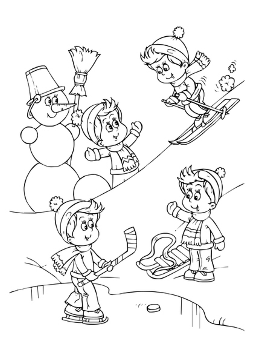 Winter Coloring Pages   360ColoringPages   winter coloring pages  free