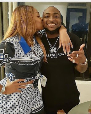 Chioma and Davido all cuddled up