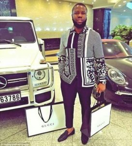 Hushpuppi with Gucci wears