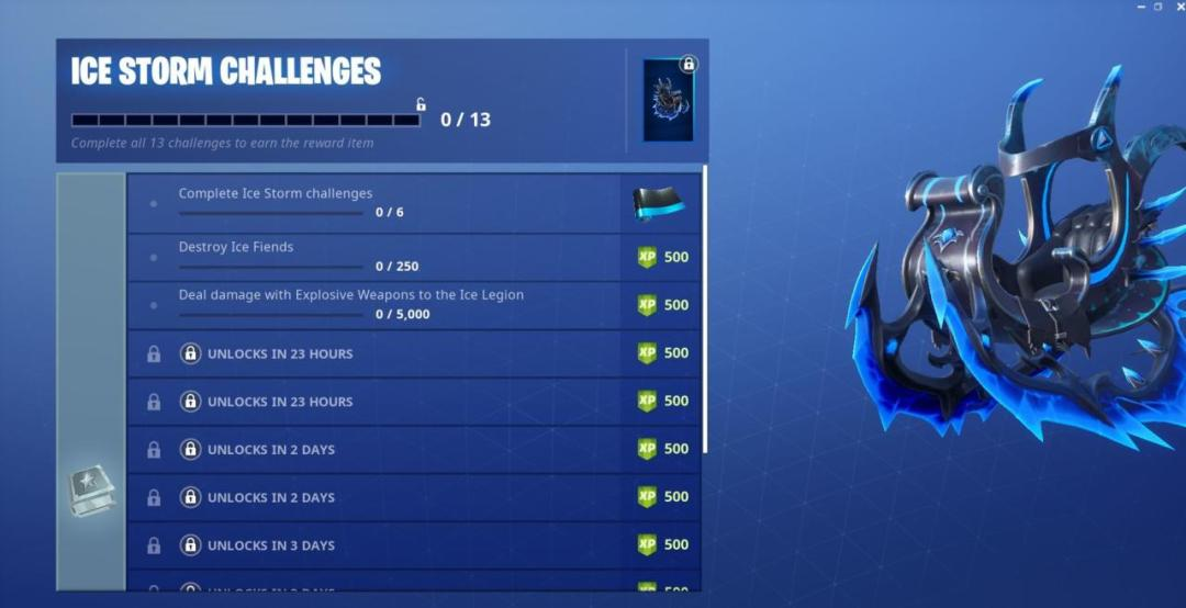 Fortnite Ice Storm Challenge Guide (Day 1): Destroy Ice Fiends, Damage Ice Legion 1