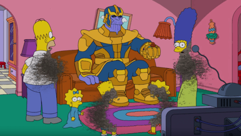 Watch Thanos Snap Away The Simpsons Family; Only One Member Survives 1