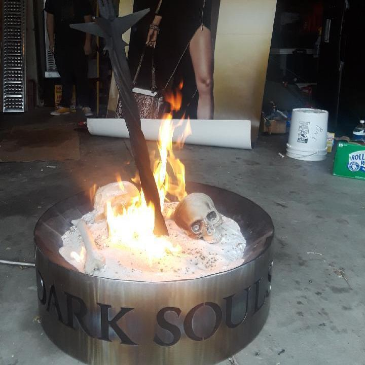 Damnnnnnnn dude this is dedication .... he made a Dark Souls bonfire. Whose up f 2