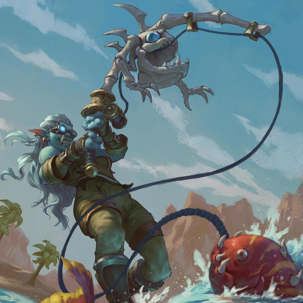 Love this epic commission by ProfessorNox - that's one eager fisher  . . . . . .... 2