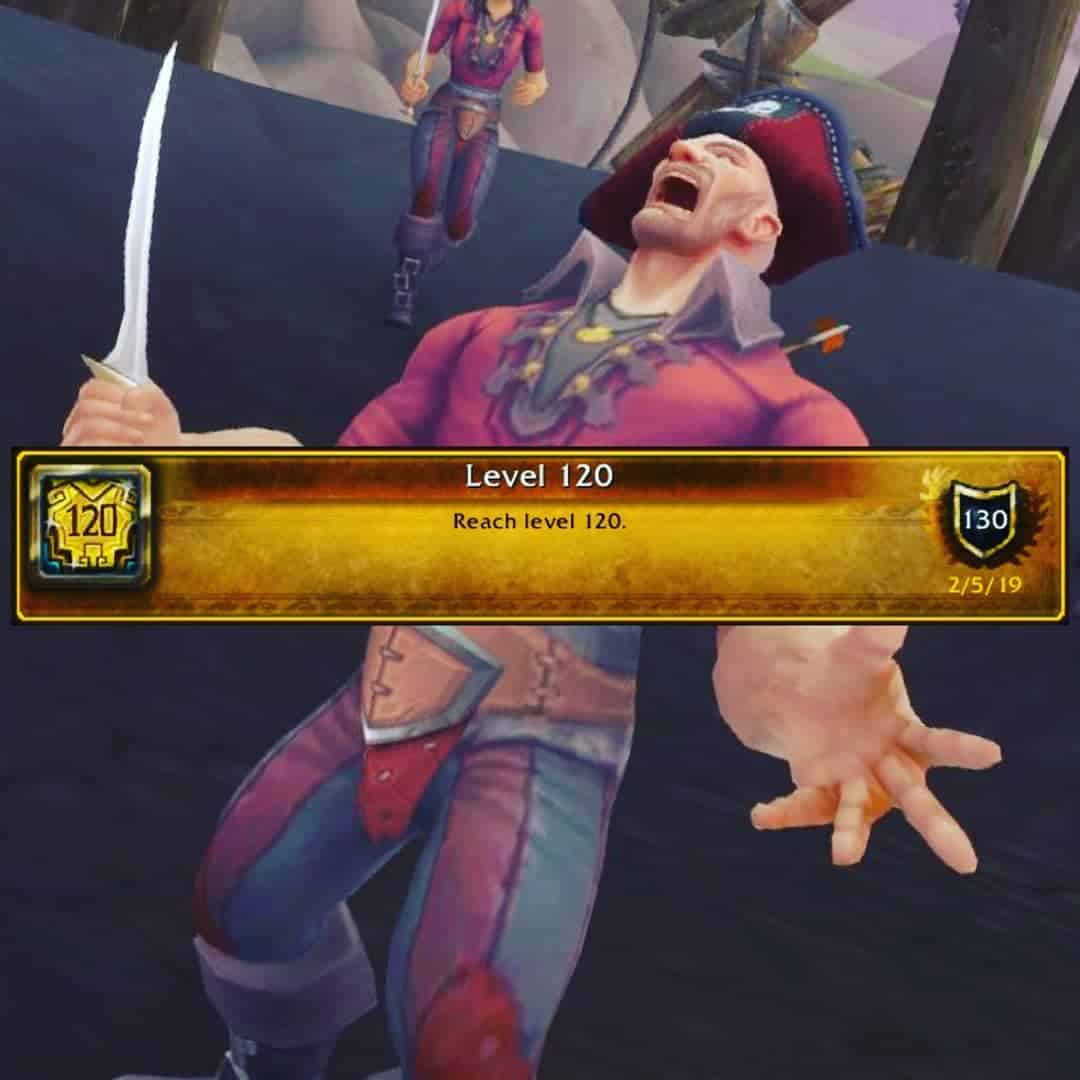 W00t  120... Warmode, heirlooms and timewalking is cheat mode. I hit 110 yesterd...
