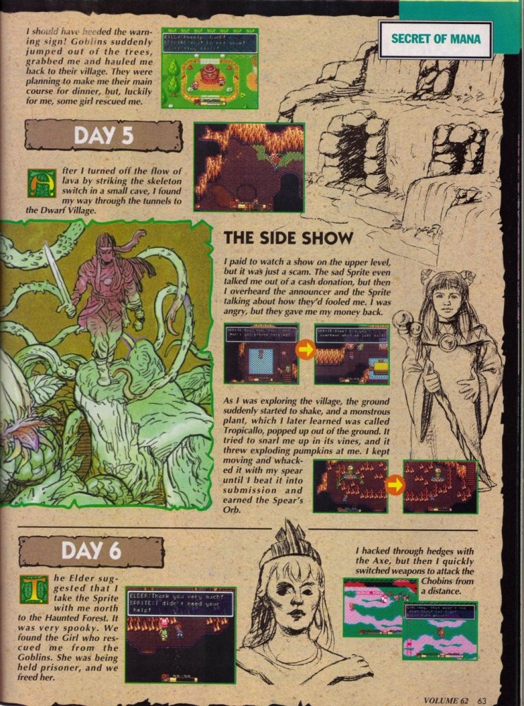 Secret of Mana - Complete Nintendo Power Guide 4 JRPG, Magazine, Nintendo Power, Secret of Mana