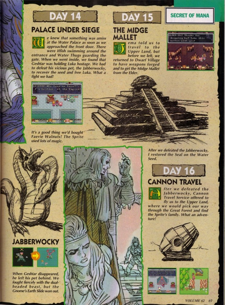 Secret of Mana - Complete Nintendo Power Guide 10 JRPG, Magazine, Nintendo Power, Secret of Mana