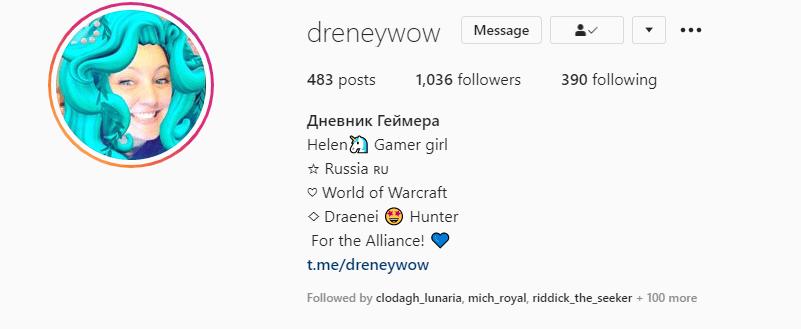 Draneywow Instagram Profile Header