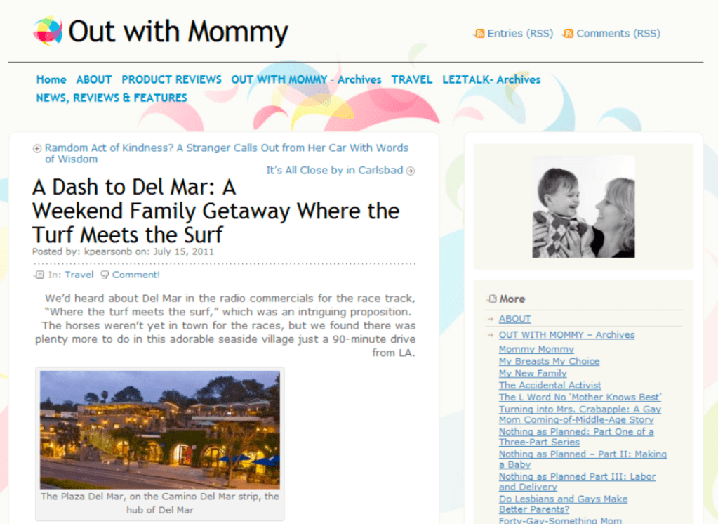 A Dash to Del Mar on Out With Mommy