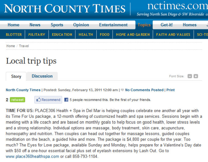Local Trip Tips by North County Times