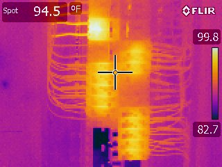 Electrical Panel Infrared Heat Distribution 360 Home