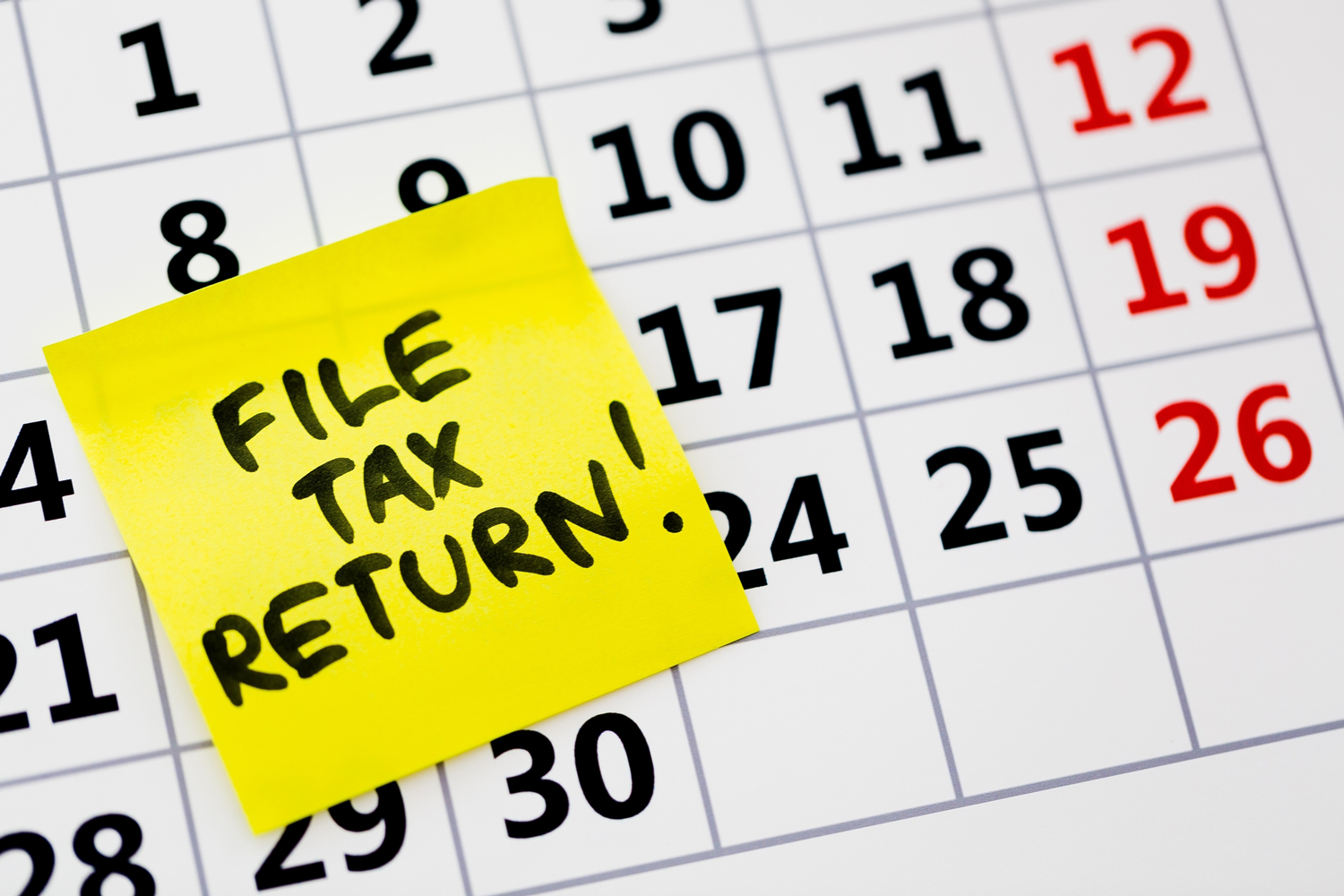 tax tips for last minute return filing