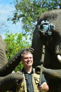Chris Du Plessis is using 360Heros gear to create interactive wildlife experiences. Photo courtesy of Photos of Africa.