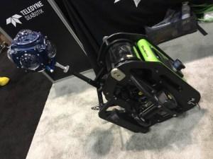 360Abyss mounted on a SeaBotix miniROV.