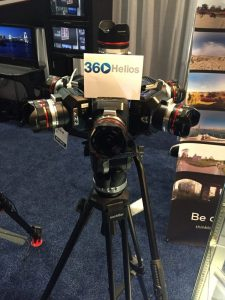 Helios 360 Blackmagic Design rig on display at the B&H Photo booth at NAB.