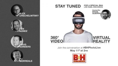 Don't miss B&H Photo's live VR panel discussion May 11!