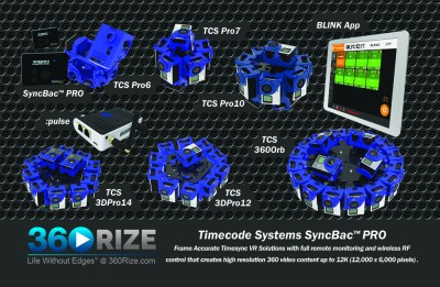Timecode Systems SyncBac PRO Frame Accurate Timecode VR Solutions
