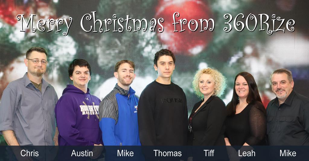 360Rize Christmas Team Photo
