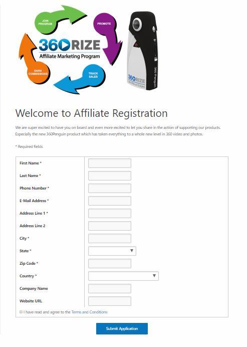 360Rize 360Penguin Affiliate Register