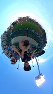 360Rize 360Penguin at a Baseball game