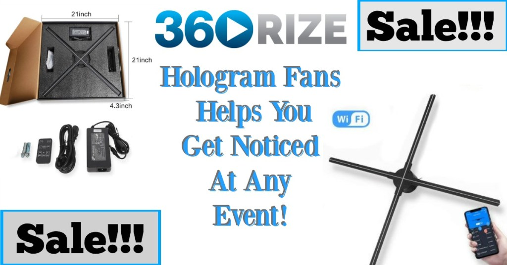 360Rize Holographic Fan Sale