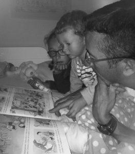 lecture du soir en famille