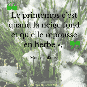 printemps, citation, enfants
