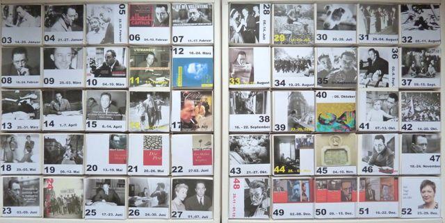 365 Tage sind 52 Wochen mit Camus und Schokolade.