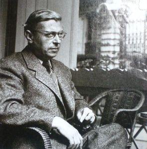 Jean-Paul Sartre um ca. 1950. Foto: Wikicommons