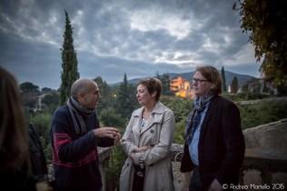 Discussions camusiénnes... Am letzten Abend bei Camus auf der Terrasse. ©Foto: Andrea Martella