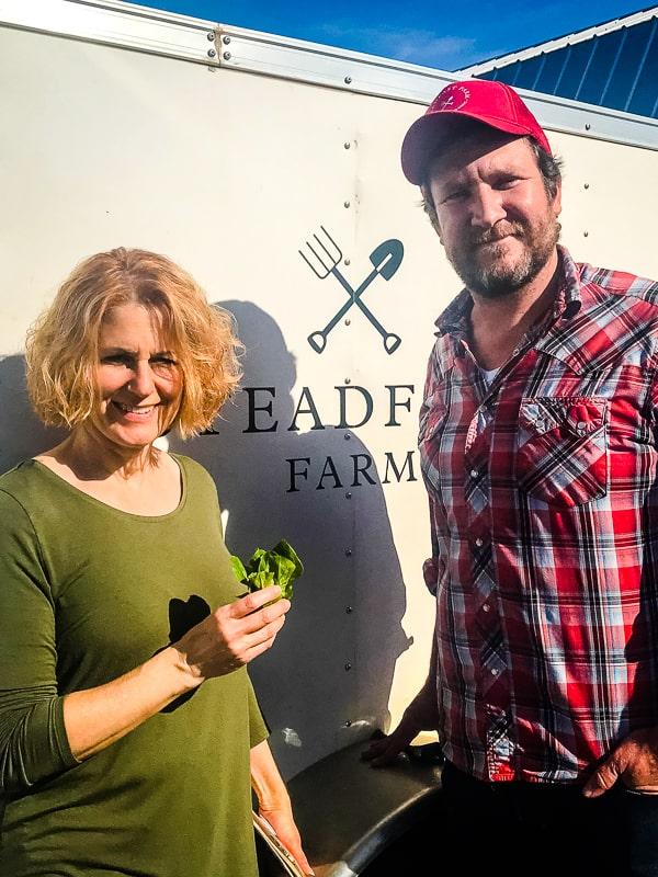 Lynne of 365 Days of Baking and Erich Schultz of Steadfast Farm.