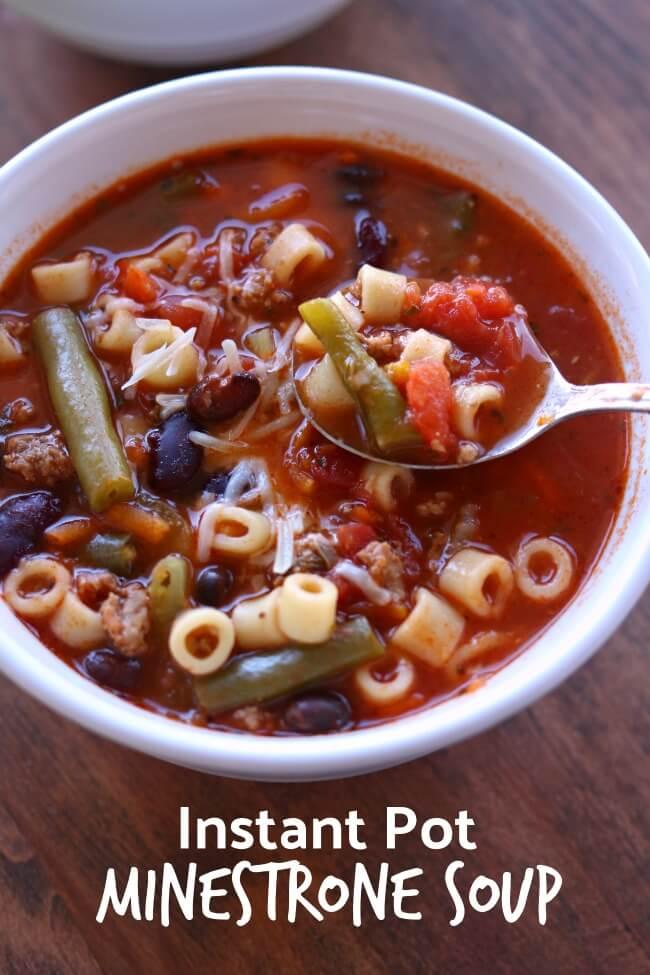 Ground Turkey Instant Pot Meals : Instant Pot (Ground Turkey) Minestrone Soup - 365 Days of ...