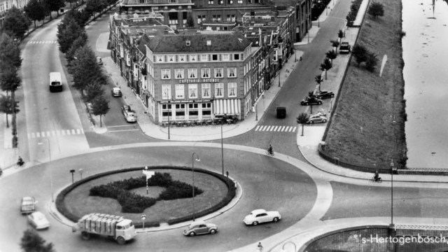 The give way rule at roundabouts, known as the offside rule, was formally introduced following research on roundabout safety at the Transport Research Laboratory.