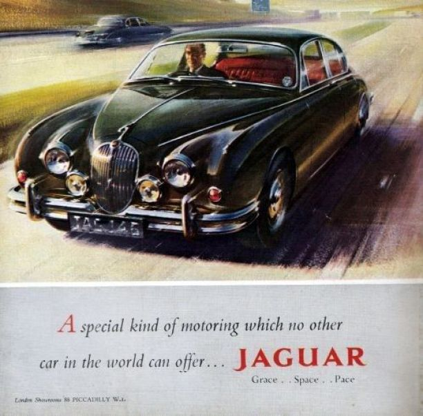 Jaguar replaced the Mk1 sp[orts saloo, with the highly acclaimed Mk2, and with the potent 3.8 litre model completely revolutionised the 'get-away' vehicle market. The police responded by buying Mk2 3.8s as well.