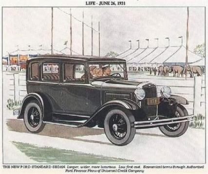 Ford Model A advertisement