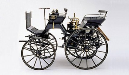 Benzin motor carriage, 1887