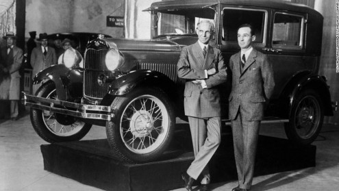 Henry and Edsel Ford - Ford Model A - 1927