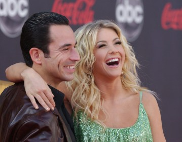 Hélio Castroneves and Julianne Hough