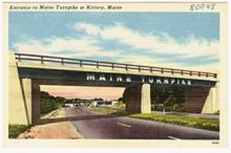 Entrance to the Maine Turnpike at Kittery