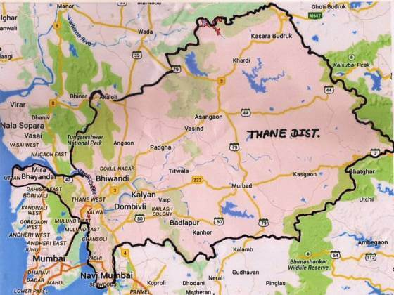 thane district map