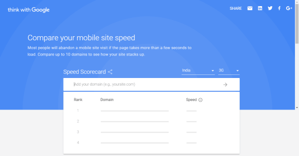 seo benefits of speed scorecard tool