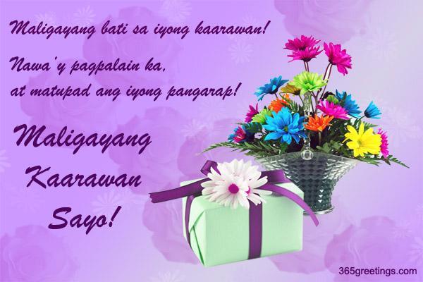 Message Birthday Tagalog Friend