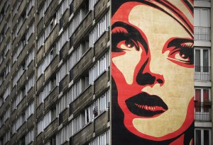 Rise Above Rebel in Paris by Shepard Fairey