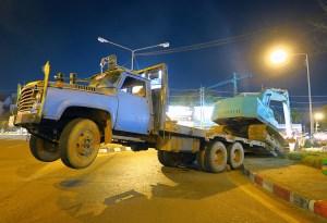 Truck wheelie Thailand